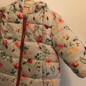 Zara kids puffer coat. Reversible 12 m